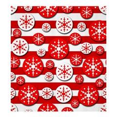 Snowflake red and white pattern Shower Curtain 66  x 72  (Large)
