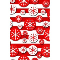 Snowflake red and white pattern 5.5  x 8.5  Notebooks