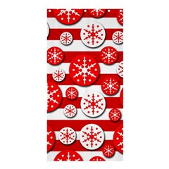 Snowflake red and white pattern Shower Curtain 36  x 72  (Stall)