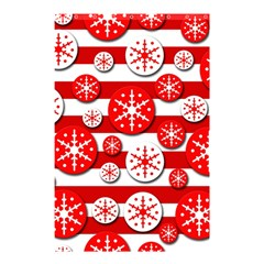 Snowflake red and white pattern Shower Curtain 48  x 72  (Small)