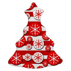 Snowflake red and white pattern Ornament (Christmas Tree)