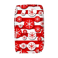 Snowflake red and white pattern Bold 9700