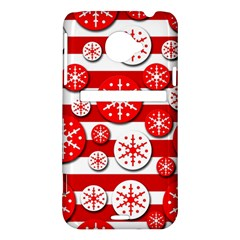 Snowflake red and white pattern HTC Evo 4G LTE Hardshell Case