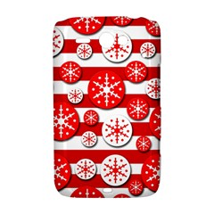 Snowflake red and white pattern HTC ChaCha / HTC Status Hardshell Case