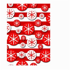 Snowflake red and white pattern Large Garden Flag (Two Sides)