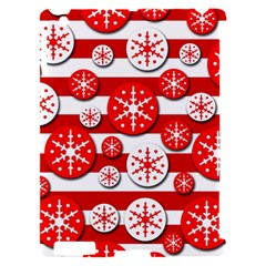 Snowflake red and white pattern Apple iPad 2 Hardshell Case (Compatible with Smart Cover)