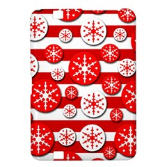 Snowflake red and white pattern Kindle Fire HD 8.9