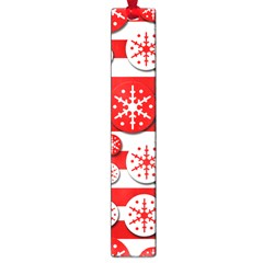 Snowflake red and white pattern Large Book Marks