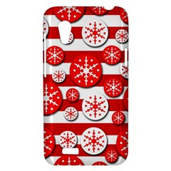 Snowflake red and white pattern HTC Desire VT (T328T) Hardshell Case