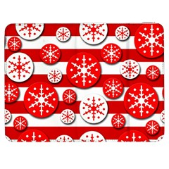 Snowflake red and white pattern Samsung Galaxy Tab 7  P1000 Flip Case