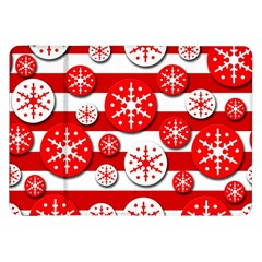 Snowflake red and white pattern Samsung Galaxy Tab 8.9  P7300 Flip Case