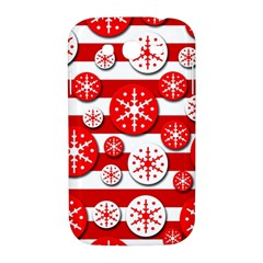 Snowflake red and white pattern Samsung Galaxy Grand DUOS I9082 Hardshell Case