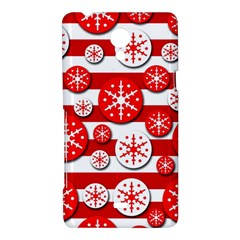 Snowflake red and white pattern Sony Xperia T