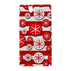 Snowflake red and white pattern Sony Xperia Z