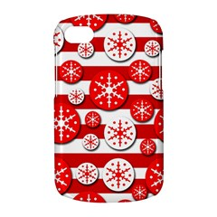Snowflake red and white pattern BlackBerry Q10