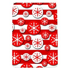 Snowflake red and white pattern Flap Covers (S)