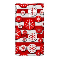 Snowflake red and white pattern Sony Xperia ZL (L35H)