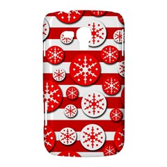 Snowflake red and white pattern Samsung Galaxy Duos I8262 Hardshell Case