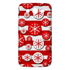 Snowflake red and white pattern Samsung Galaxy Mega 5.8 I9152 Hardshell Case