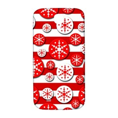 Snowflake red and white pattern Samsung Galaxy S4 I9500/I9505  Hardshell Back Case