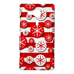 Snowflake red and white pattern Sony Xperia SP
