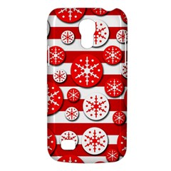 Snowflake red and white pattern Galaxy S4 Mini