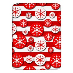 Snowflake red and white pattern Samsung Galaxy Tab 3 (10.1 ) P5200 Hardshell Case
