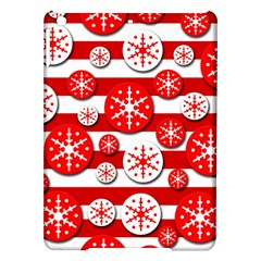Snowflake red and white pattern iPad Air Hardshell Cases