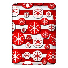 Snowflake red and white pattern Kindle Fire HDX Hardshell Case