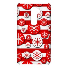 Snowflake red and white pattern LG G2