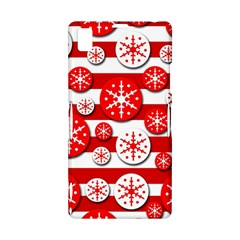 Snowflake red and white pattern Sony Xperia Z1