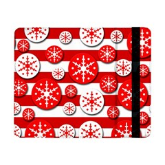 Snowflake red and white pattern Samsung Galaxy Tab Pro 8.4  Flip Case