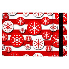 Snowflake red and white pattern iPad Air Flip