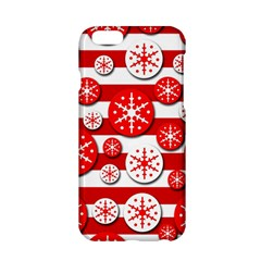 Snowflake red and white pattern Apple iPhone 6/6S Hardshell Case