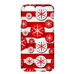 Snowflake red and white pattern Apple iPhone 6 Plus/6S Plus Hardshell Case