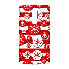 Snowflake red and white pattern LG G3 Back Case