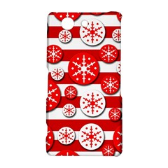 Snowflake red and white pattern Sony Xperia Z3 Compact