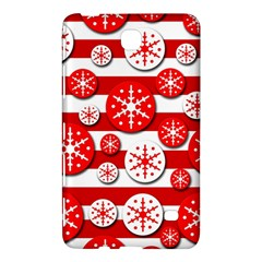 Snowflake red and white pattern Samsung Galaxy Tab 4 (8 ) Hardshell Case