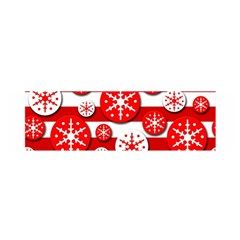 Snowflake red and white pattern Satin Scarf (Oblong)