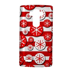 Snowflake red and white pattern LG G4 Hardshell Case