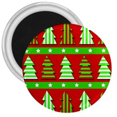 Christmas trees pattern 3  Magnets