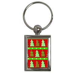 Christmas trees pattern Key Chains (Rectangle)