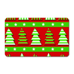 Christmas trees pattern Magnet (Rectangular)