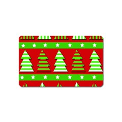 Christmas trees pattern Magnet (Name Card)