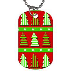 Christmas trees pattern Dog Tag (Two Sides)