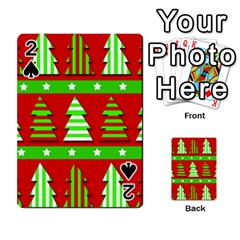 Christmas trees pattern Playing Cards 54 Designs
