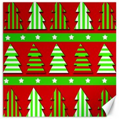 Christmas trees pattern Canvas 16  x 16