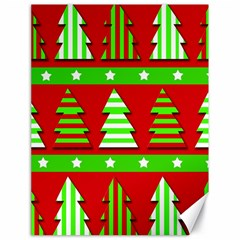 Christmas trees pattern Canvas 18  x 24