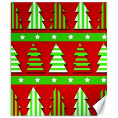 Christmas trees pattern Canvas 20  x 24