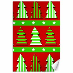 Christmas trees pattern Canvas 24  x 36